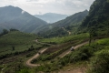 COPE's vehicles make their way through the mountains of Xieng Khouang Province, Laos
